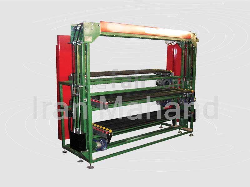 Elevator for multi layer roller dryer