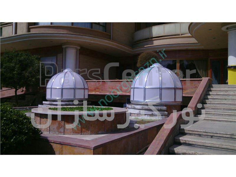 نورگیر سقفی با استفاده از نورگیر حبابی,پلی کربنات و...