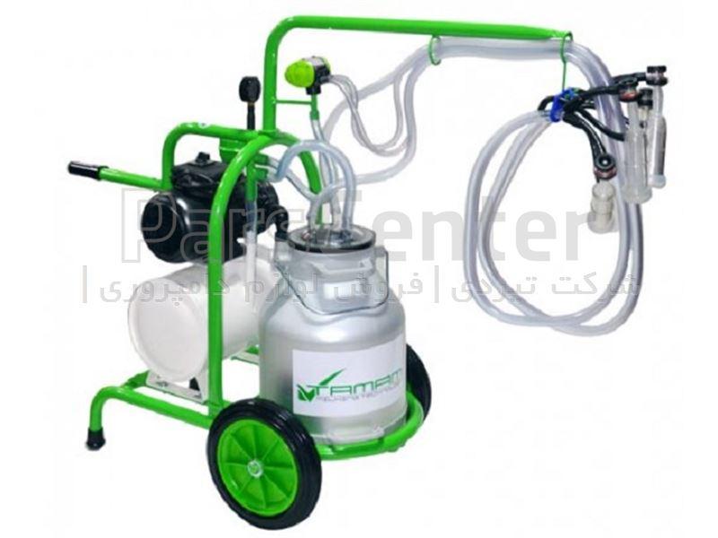 دستگاه شیردوش سیار گوسفند دوش ملاستی - دو واحد - سبز
