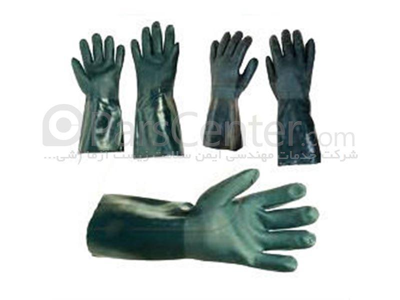 دستکش ضد اسید و مواد شیمیایی PVC آستردار ACTIFRESH MIDAS