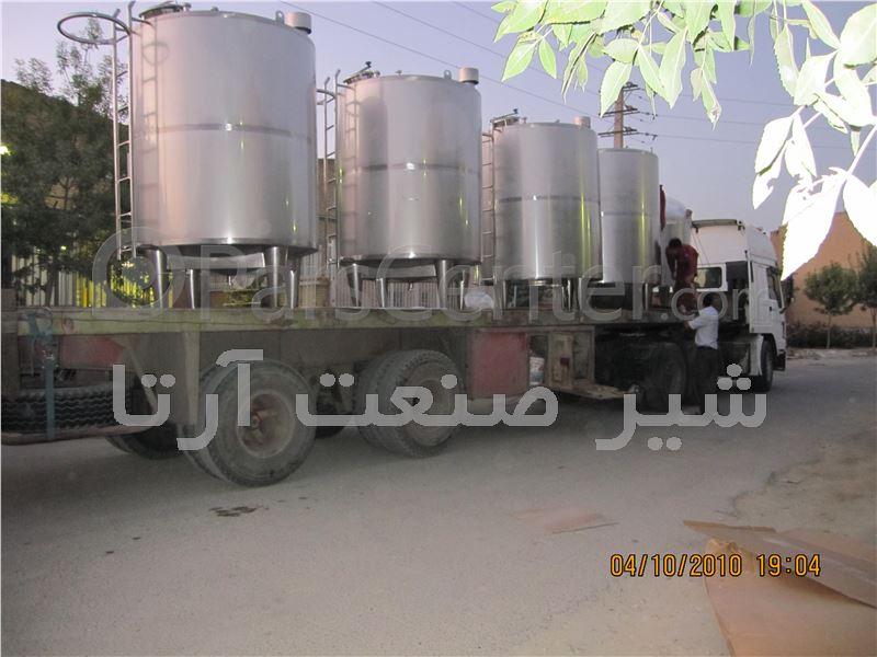 مخزن استیل نگهداری مواد شیمیایی