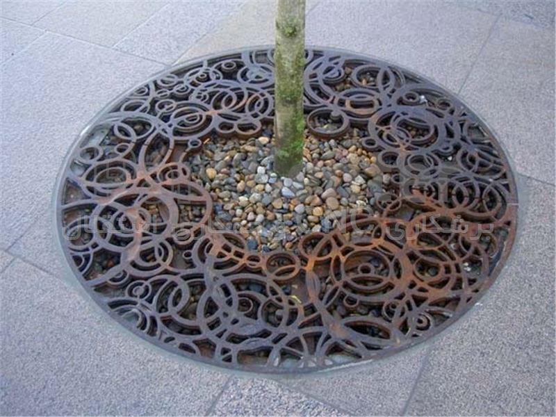 تزیین باغچه و چای درخت به وسیله ورق آهن