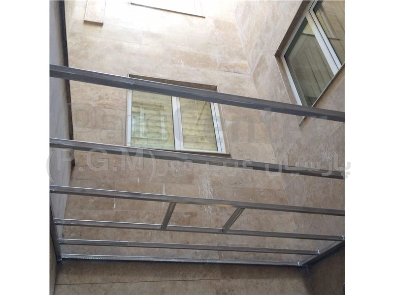 اجرای سقف کاذب پلی کربنات حیاط خلوت (پاسداران-عراقی)