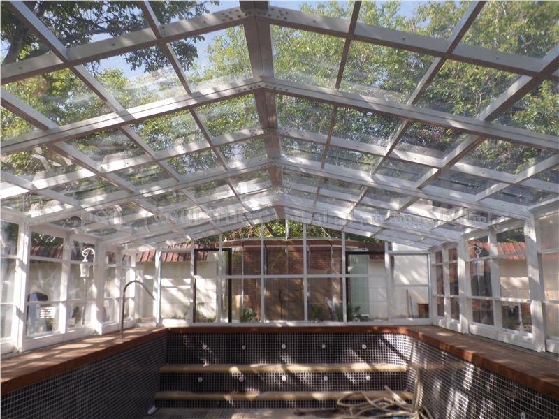 پوشش متحرک تلسکوپی سقف استخر شناء - کرج - محمد شهر