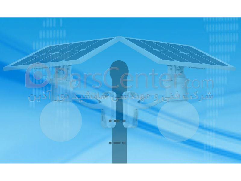 چراغ روشنایی خورشیدی هوشمند 12 وات
