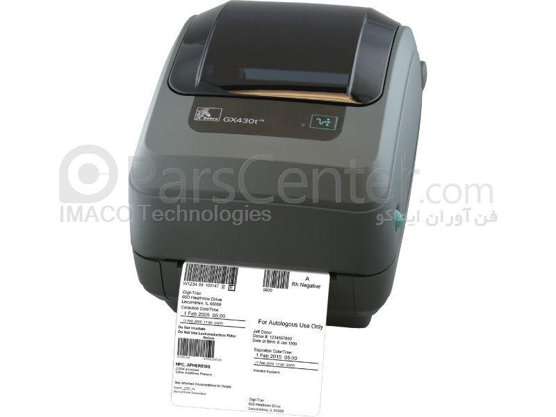 چاپگر لیبل Zebra GX430t
