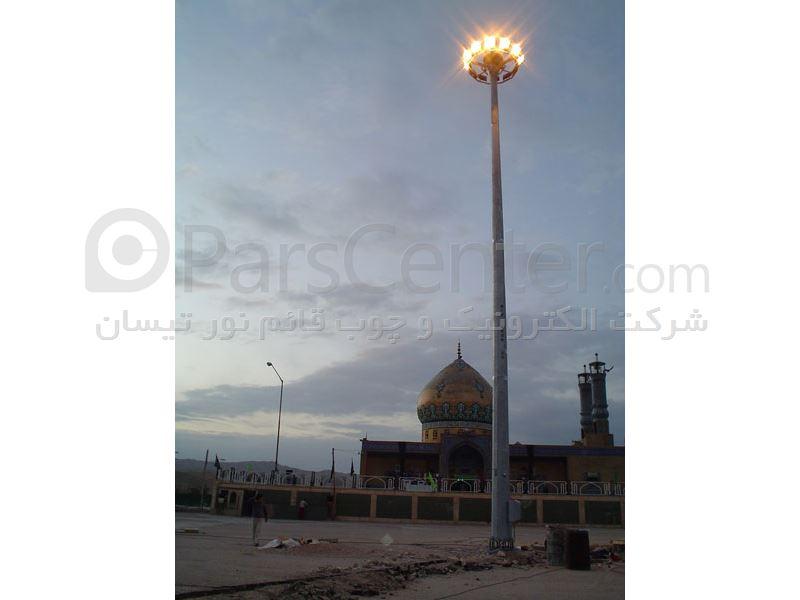 پایه چراغ های خیابانی-پایه پرچم-برج های نوری-دکل های استادیومی
