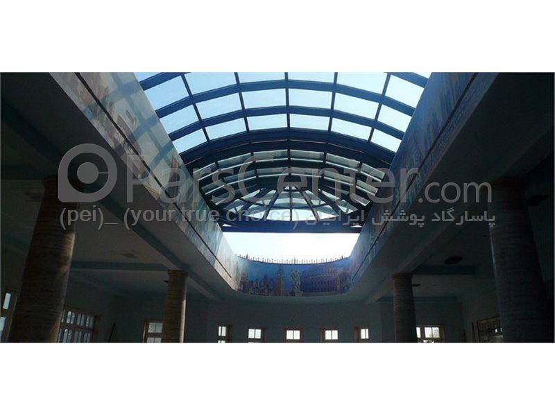 Building skylight_ نورگیر سقف متحرک پاساژ