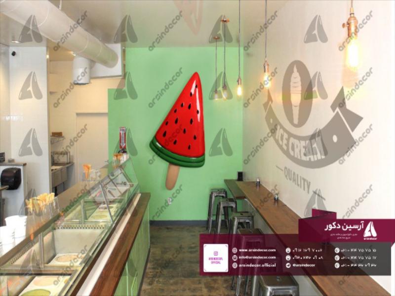 ماکت بستنی چوبی هندوانه دیواری