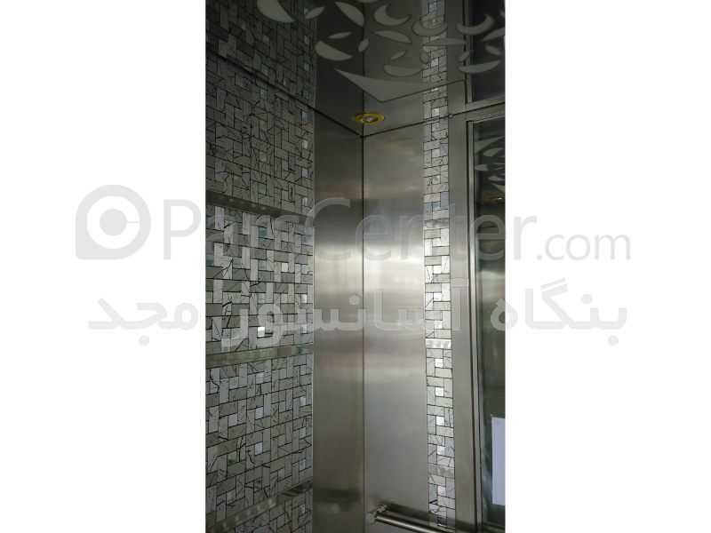 کابین آسانسور استیل طرح دار ( پازل )