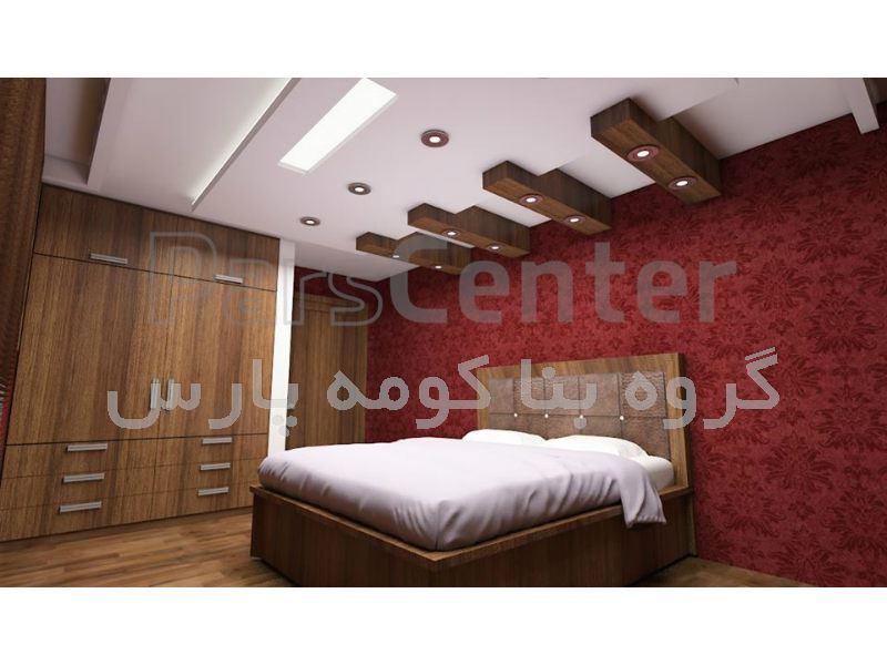 طراحی و اجرای سقف کاذب کناف - اتاق خواب