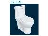 توالت فرنگی چینی کرد مدل دافنه آکس 23