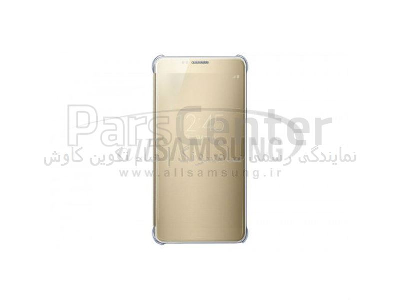 Samsung Galaxy Note 5 Clear View Cover Gold ویو کاور طلایی گلکسی نوت 5 سامسونگ