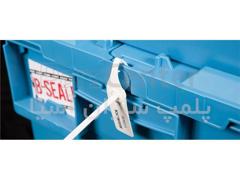 پلمپ تسمه ای پلاستیکی با تسمه پهن استاندارد درب جعبه ها
