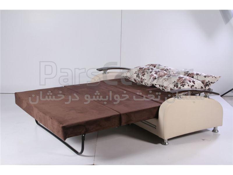 مبل تختخوابشو سه نفر نشیمن دو نفر خواب اسکورت عرض 140