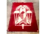 پتو مینک با آرم قوه قضائیه (زندانها) قرمز رنگ طاهربافت