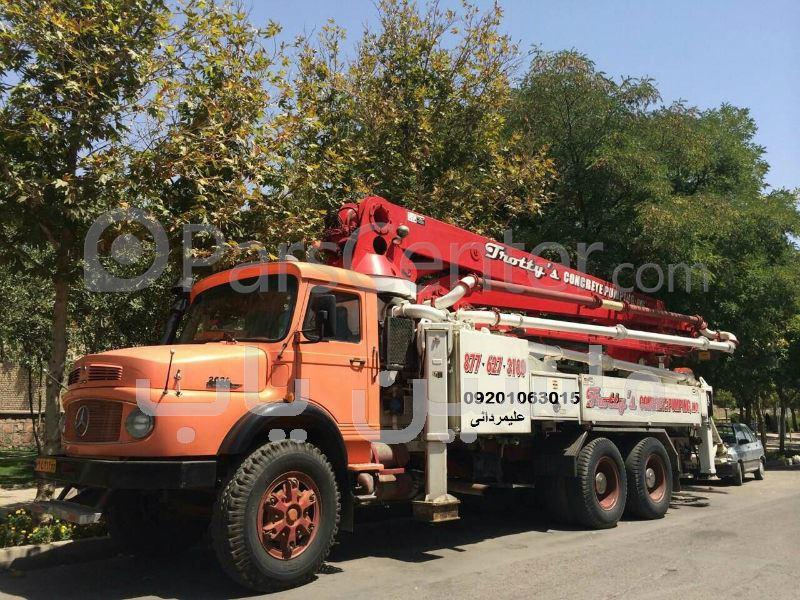 بچینگ پلانت | کامیون پمپ بتن - بچینگ پلانت... پمپ بتن دکل شوئینگ 36 متری S ,X مدل سال 2003 با کامیون بنز زیر ...