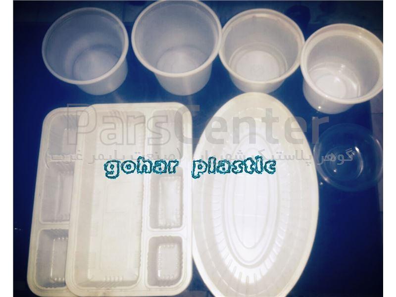 ظروف یکبار مصرف بهداشتی pp