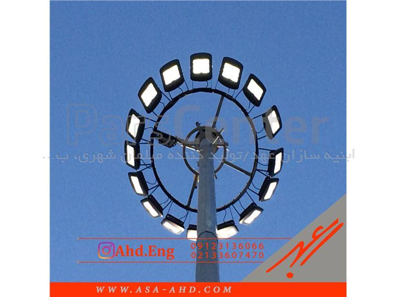 برج نوری 12 متری گالوانیزه به همراه پرژکتور cob