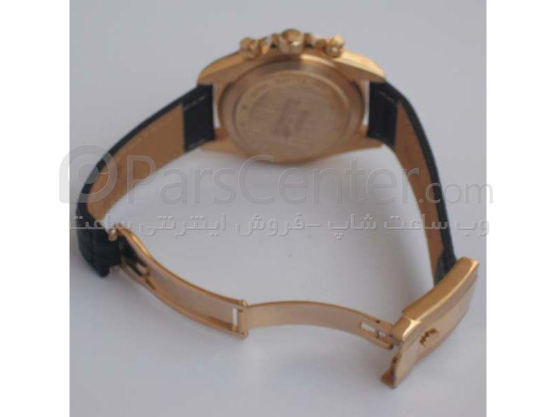 ساعت رولکس مدل  DAYTONA- شیشه ضد خش -بندچرمی- رنگ صفحه مشکی- ایندکس خطی