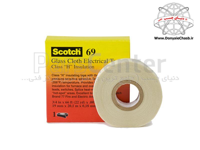 چسب نواری عایق الکتریکی  3M Scotch 69  آمریکا