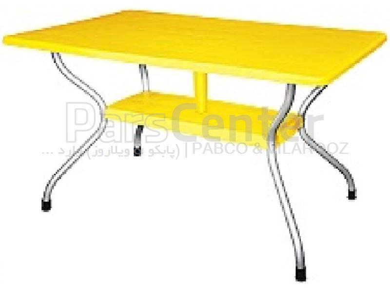 میز پلاستیکی 6 نفره کد 921. 73×80×130 سانت